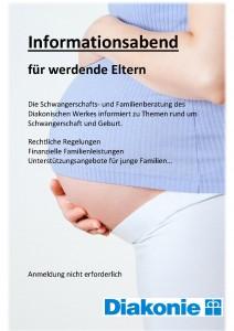 Plakat Infoabend Schwangerenberatung