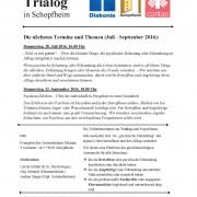 Einladung zum Trialog in Schopfheim