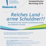 """""""Reiches Land – arme Schuldner?!"""" eine Veranstaltung zum Sozialpolitischen Martinstag"""