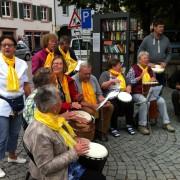 Straßenmusik zugunsten der Tagesstätte in Schopfheim