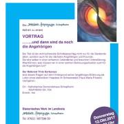 Vortrag am 12.10. und Neues aus der Hospizarbeit