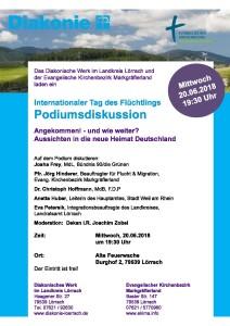Plakat Podiumsdiskussion Tag des Fluechtlings 2018 v2