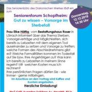 """Seniorenforum: """"Gut zu wissen – Vorsorge im Sterbefall"""""""